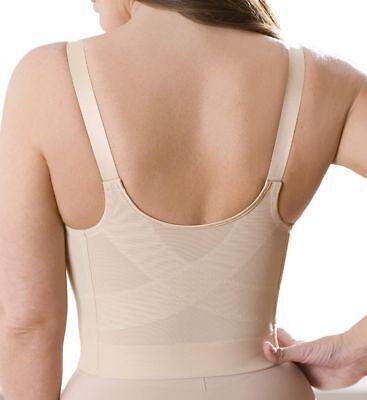 Elila 38D Front Hook Beige Posture Support Long Line Bra Fits 36DD Best