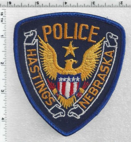 Hastings Police (Nebraska) 2nd Issue Uniform Take-Off Shoulder Patch