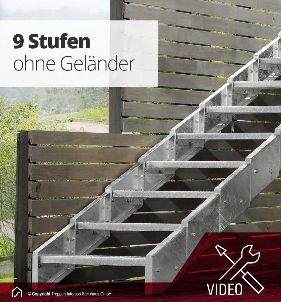 Aussentreppe Stahl Innotec Stahlwangentreppe Balkontreppe Garten Treppe Metall