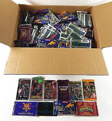 Non-Sport Trading Card Pack Lot ^ DC Comics MMPR Gargoyles Street Fighter
