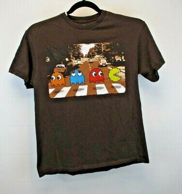 Pac-Man Beatles Short Sleeve Men's Large Tee Shirt Brown