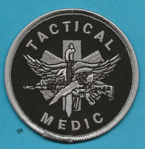 "TACTICAL MEDIC POLICE SHOULDER PATCH 3""  (Subdued -Black)"