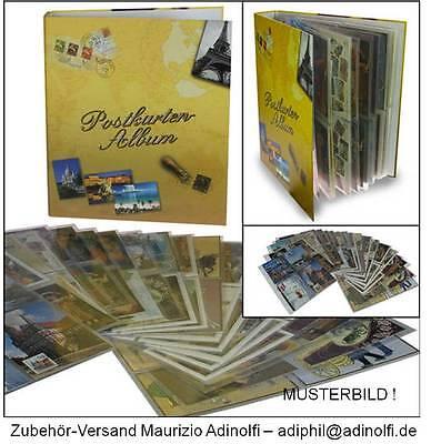 Neu: Sammelalbum für 160 Ansichtskarten Postkarten Album postcards erweiterbar !