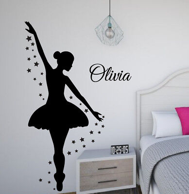 Ballerina Wall Decal, Dance Wall Decor, Personalized Decal, Girls Room - Ballerina Wall