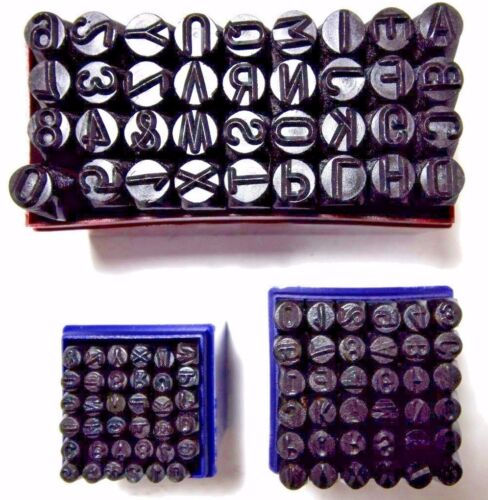 """Steel Stamping Set 3/8"""" 1/4"""" 1/8"""" Letter Number Punch Marking Jewelers Metal New"""