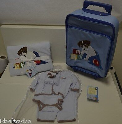 ALLY & BAILEY BABY BOY BLUE LAYETTE CLOTHING, BLANKET SET ~ ULTIMATE SHOWER GIFT for sale  Shipping to India