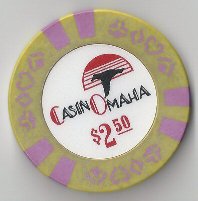 $2.50 IOWA 1ST EDT OMAHA CASINO CHIP CHIPCO SIOUX CITY BJ MOLD