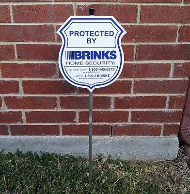 Brinks Home Security Alarm Yard Sign