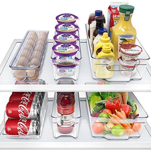 Sorbus Fridge Bins and Freezer Organizer Refrigerator Storage( 6 Pack Set)