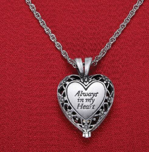 Heart Shaped Memorial Pendant Locket W/ Ashes Urn Enclose...