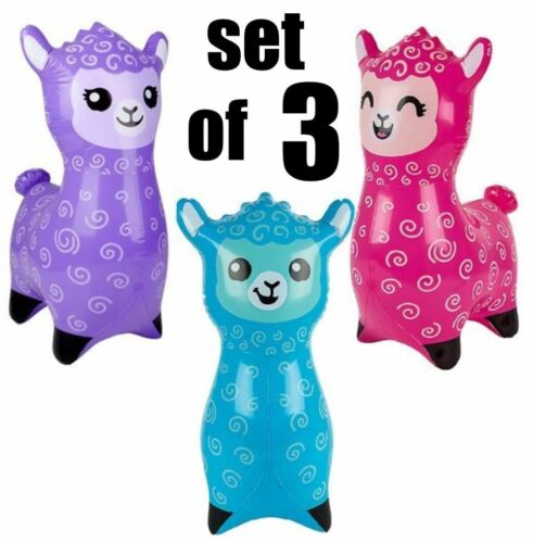 "(Set of 3) 24"" Alpaca - Llama Inflatable - Inflate Blow Up Toy Party Decoration"