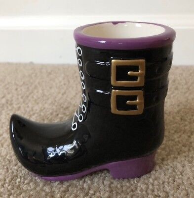Yankee Candle WITCH BOOT SHOE VOTIVE HOLDER Halloween Decor