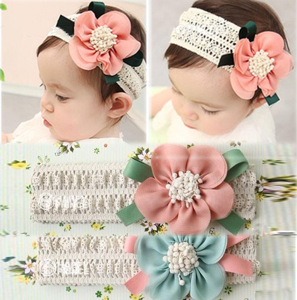 Cute Lace Flower Kids Baby Toddler Girls Headband Hair Band Headwear Accessories