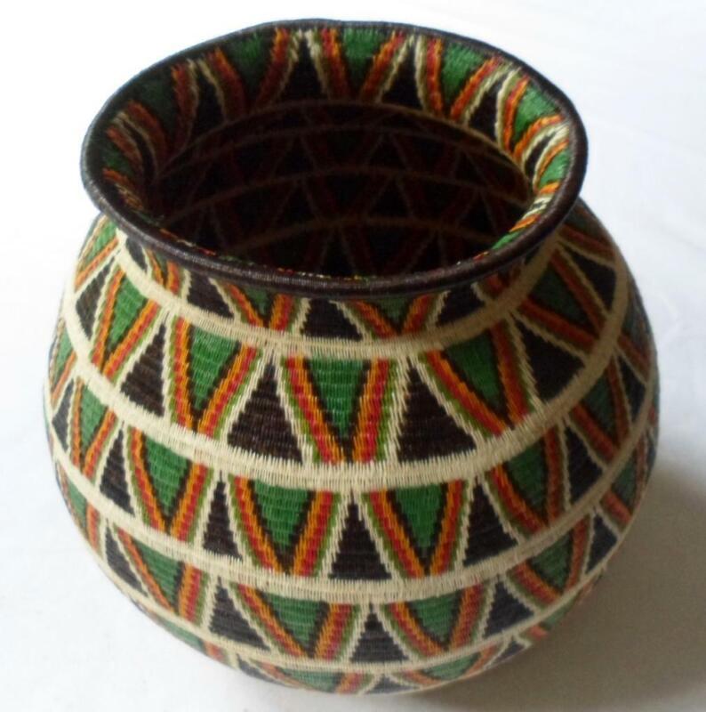 Wounaan Embera Woven Gorgeous Classic Design Basket-Panama 20081310mm