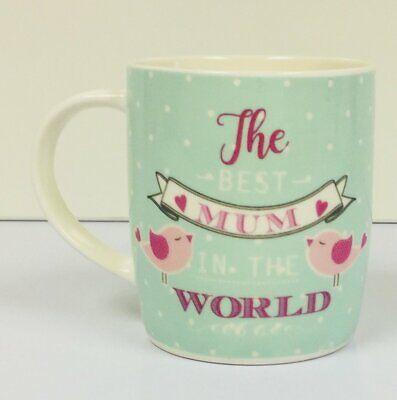 Hugga Mug - Large Porcelain Mug - The Best Mum In The World - Mother (Best Porcelain In The World)