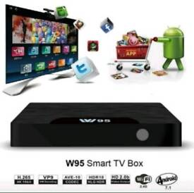 LATEST W95 4K UHD TV BOX WITH ALL APPS INCLUDED FOR PERFECT TV