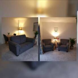 IKEA 'Ekenäs' Double Sofa & Armchairs