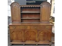 Vintage solid oak dresser