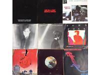 8 seven inch Singles Ultravox Simple Minds John Foxx Kraftwerk OMD Gary Numan