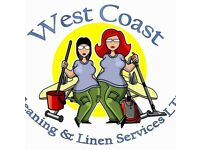 Commercial and domestic cleaning, linen hire & laundry services to hotels, holiday homes and private