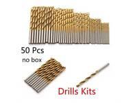 Brand New FREE DELIVERY- 50pcs Titanium Coated HSS High Speed Steel Drill Bit Set