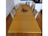 Ikea extendable dining table and 6 chairs (chairs optional)