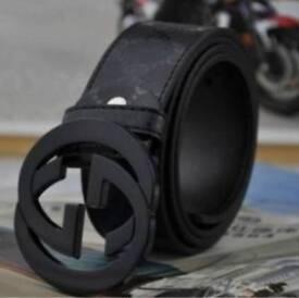 men's black designer belt