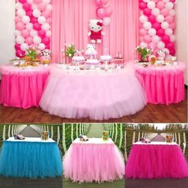 Table tutu skirt party decorations