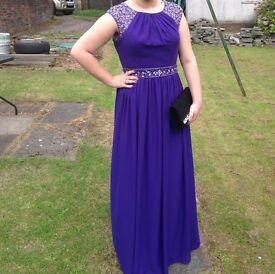 Deep purple prom dress, size 16