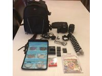 Canon 1200d camera with accessories