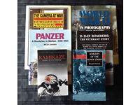 6 WAR / MILITARY BOOKS - Panzer, Kamikaze, D-Day Bombers, The Camera At War, etc.