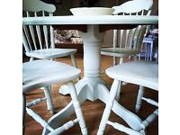 NEWLY REFURBISHED DINING TABLE AND CHAIRS