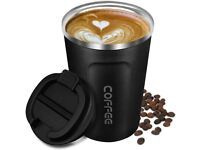 Coffee Cup Insulated, Reusable Travel Mug Double Walled Vacuum Stainless Steel with Leakproof