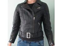 Alpine Stars Leather Motorbike Jacket (size M/12)