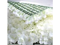 Flower Wall Panel 60cm x 40cm Ivory Hydrangea wedding Backdrop display. Rose & Hydrangea decoration