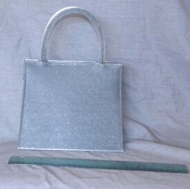 Evening Bag - Silver-grey with sheen