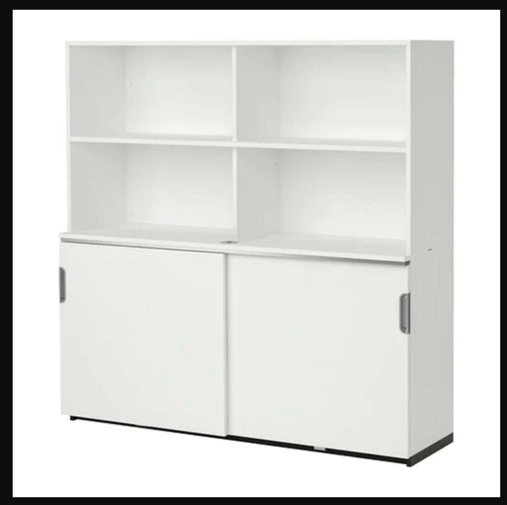 galant ikea white cabinet with sliding doors and 3 numbers rh gumtree com