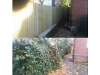 All fencing, decking & slabbing work call or message me on 07415885444