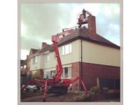 Cherry picker hire with operator. Narrow access tracked spiderlift