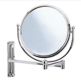 Wenko Deluxe Cosmetic Wall Mirror with swivelling Arm