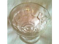 Set of 3 Jacobean Vintage Glass Dessert Sundae Dish Bowl