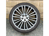"""18"""" alloy wheels tyres 5x100 Audi MK1 TT A3 Vw Golf MK4 Bora"""