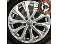 "17"" Genuine Audi A4 alloys Renault Trafic Vivaro excel cond Michelin tyres."