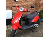 2008 RED PIAGGIO ZIP 50cc...6 MONTHS MOT