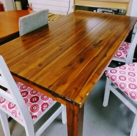 Lovely Dark Wood Dining Table