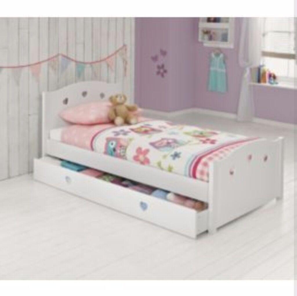 Girls White Single Bed Argos Mia Collection In