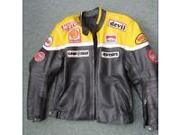 Mens Retro Leather Motorcycle Jacket