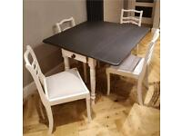 Gorgeous drop leaf table and four chairs