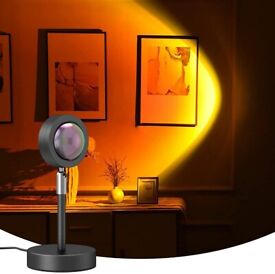 Sunset Projector 10W Projection USB Atmosphere LED Desk Night Lamp Home Decor UK