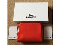 BNWT Lacoste Red Gloss Purse/Make Up Pouch
